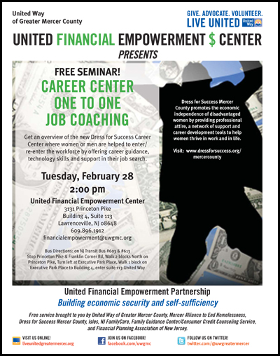 Career Center Overview Presentation Flyer