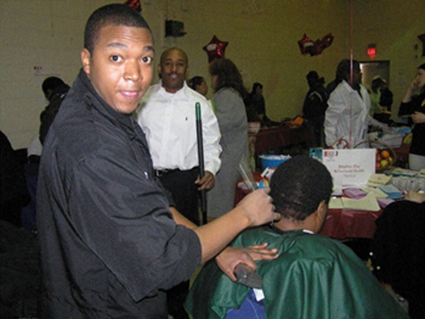 75 Haircuts were given.