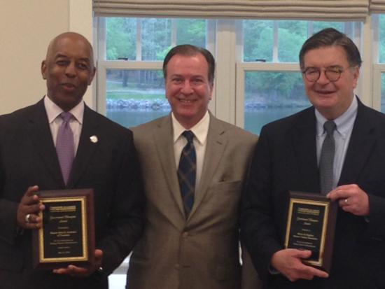 Government champions Trenton Mayor Eric E. Jackson and Mercer County Executive Brian M. Hughes